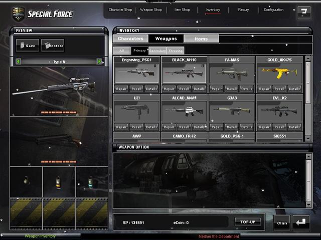 Free special force lotto guns